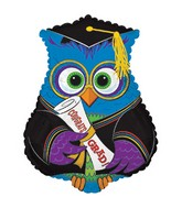 "19"" X 23.25"" Blue Grad Owl Shape-A-Loon Balloon"