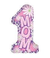 "29"" Number One Mom Shape-A-Loon Balloon"