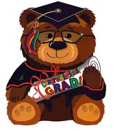 "22"" Big Bear Grad Balloon Balloon"