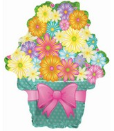 "21"" Bright Potted Flowers Balloon Balloon"
