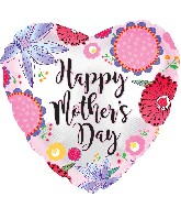 "17"" Happy Mother&#39s Day Crazy Flowers Balloon"