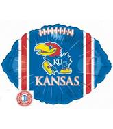 "18"" Collegiate Football University Of Kansas - Jayhawks"