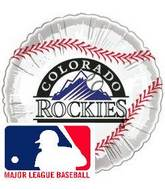 "9""  Airfill Baseball Colorado Rockies Balloon"