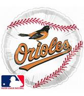 "9""  Airfill Baseball Baltimore Orioles Balloon"