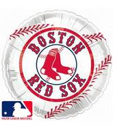 "9""  Airfill Baseball Boston Red Socks Balloon"