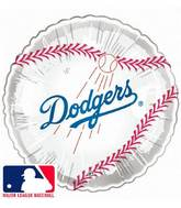 "9""  Airfill Baseball Los Angeles Dodgers Balloon"