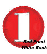"18"" Classic Number ""1"" Red/White"