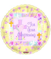 "18"" For Your Christening Yellow"