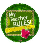 "9"" My Teacher Rules"
