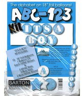 "18"" ABC-123 Kit ""It&#39s a Boy"" Blue/white (23 Balloons)"