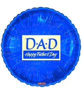 "18"" DAD Happy Father&#39s Day Blue"