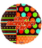 "18"" Happy Secratary&#39s Day Dots"