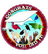 "18"" Personalized You Did It Grad Balloon"