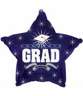 "18"" Congrats Grad Dark Navy Blue Star"