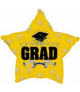 "18"" Congrats Grad Opaque Yellow"