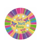 "9"" Airfill Party Flutter Brights Get Well Soon"