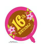 "18"" Aloha Birthday 16th"