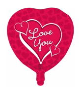 "9"" Airfill Beloved Hearts Love You"