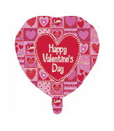 "9"" Airfill Happy Valentine&#39s Day Quilted"