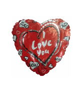 "9"" Airfill Xoxo Love Balloon"