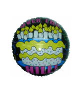 "18"" Over The hill Cake Mylar Balloon"