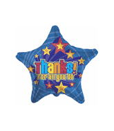 "21"" Thanks For All You Do Star Mylar Balloon"