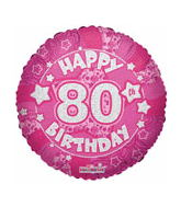 "18"" Holographic 80th Birthday Balloon"