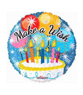 "18"" Make A Wish Holographic Cake"