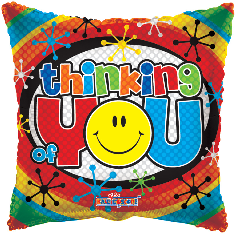 "18"" Thinking Of You Smiley Balloon"