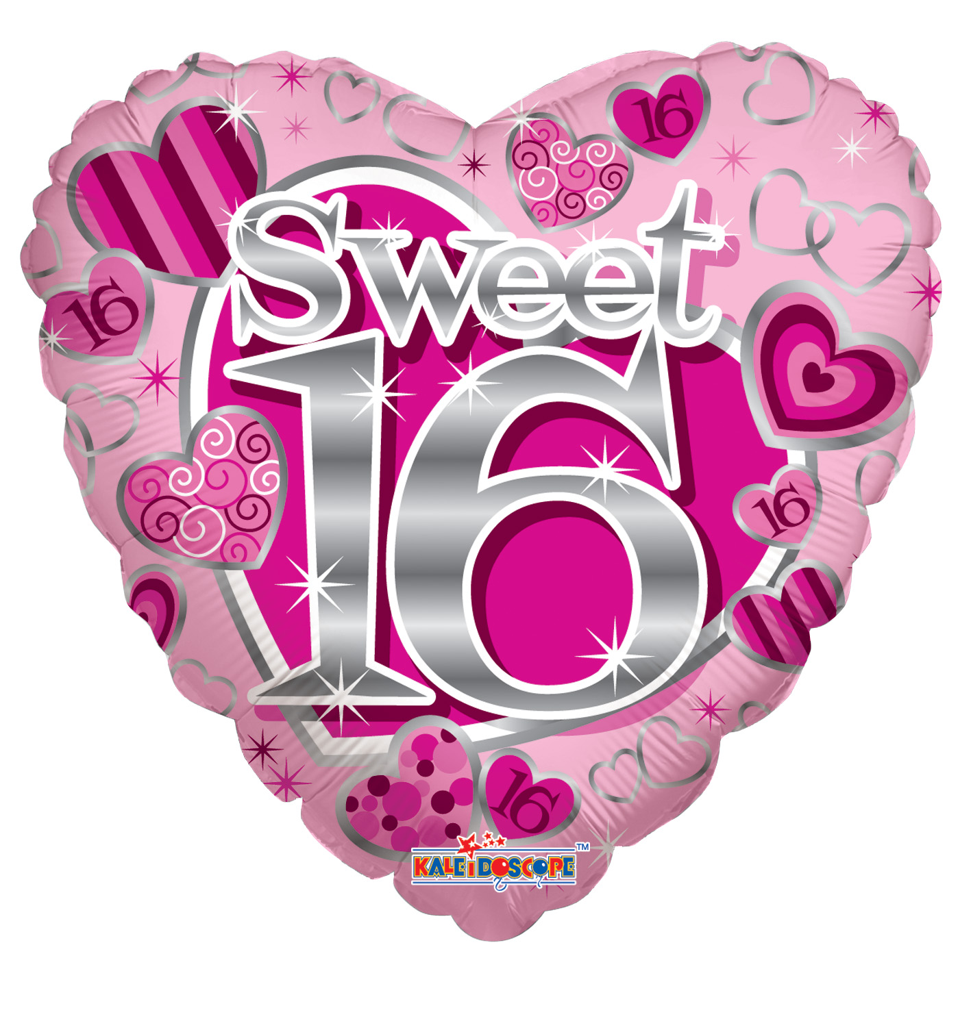 "18"" Sweet 16th Pink Balloon"