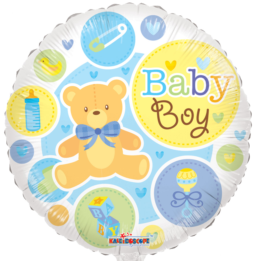"18"" Baby Boy Bear Gellibean Balloon"