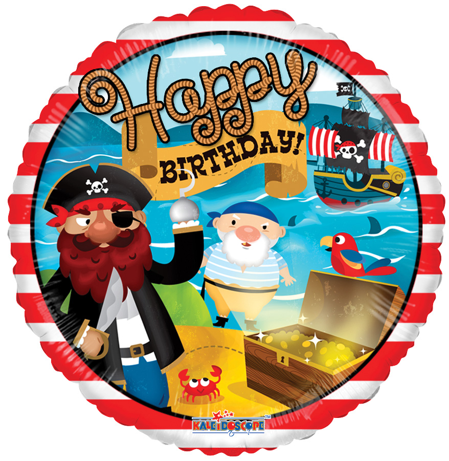 "18"" Birthday Pirate Treasure Balloon"