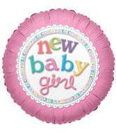 "18"" New Baby Girl Balloon"