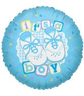 "18"" It&#39s A Boy Shoes Balloon"