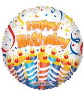 "18"" Cake & Candles BirthdayBalloon"