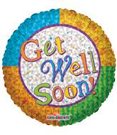 "18"" Get Well Color Wheel Balloon"
