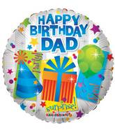 "18"" Happy Birthday Dad Gifts Balloon"