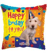 "9"" Airfill Only Happy Birthday Dog With Party Hat Balloon"