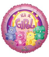 "18"" Zoo Baby Girl Balloon"