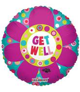 "18"" Get Well Big Flower Balloon"