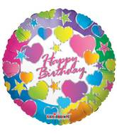 "18"" Birthday Hearts Balloon"