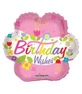 "4"" Airfill Only Birthday Wishes Flower Balloon"