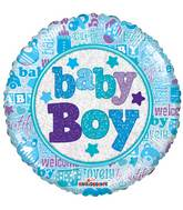 "18"" Baby Boy Holographic Balloon"