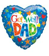 "18"" Get Well Dad Balloon"