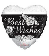 "18"" Best Wishes Heart Balloon"