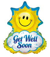 "28"" Get Well Sun Shape balloons"