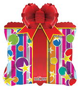 "28"" Party Gift Box Shape balloons"