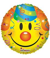 "18"" Smiley With Party Hat Balloon"