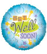 "18"" Get Well Retro Balloon"