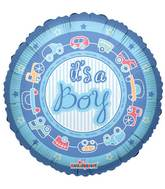 "18"" It&#39s A Boy On Circle Balloon"